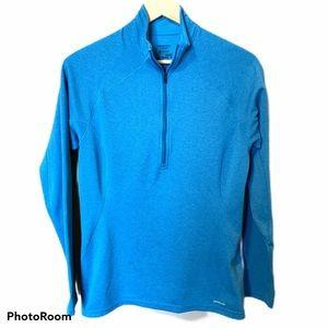 Patagonia blue/teal quarter zip fleece medium